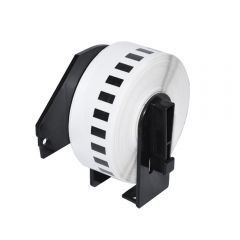 съвместими етикети Brother DK-22214 - White Continuous Length Paper Tape 12mm x 30.48m, Black on White - MK-DK-22214
