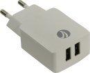 VCom бяло зарядно за стена Charger AC / 2A 2xUSB White - M013