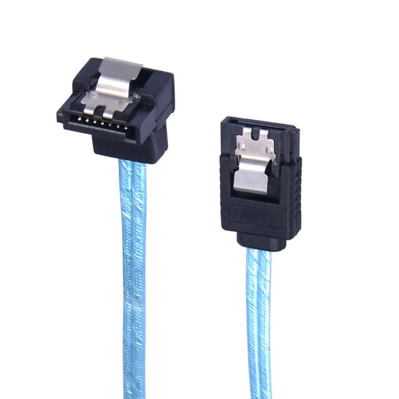 кабел Cable SATA3 60cm /w Lock, 1 Right angle - CPD-7P6G-BA60
