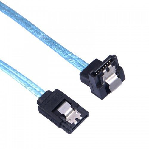 кабел Cable SATA3 90cm /w Lock, 1 Right angle - CPD-7P6G-BA90