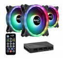 комплект вентилатори Fan Pack 3-in-1 3x120mm - DUO 12 Pro - Addressable RGB with Hub, Remote - ACF3-DU10227.11
