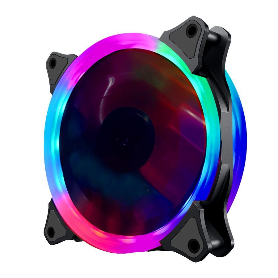 Fan 120mm RGB 2 rings, 6 pin - MAKKI-FAN120-RGB-2R-6P