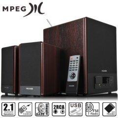 Тонколони Speakers 2.1 FC530U wooden - USB/SD/FM/Remote 64W RMS