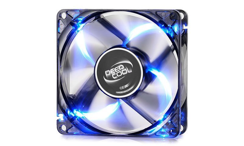 DeepCool Вентилатор Fan 80mm Blue LED - WIND BLADE 80 - 1800rpm