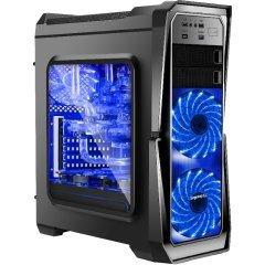 Кутия Case ATX GANK-II-BK - USB3.0 / 3x120mm fans