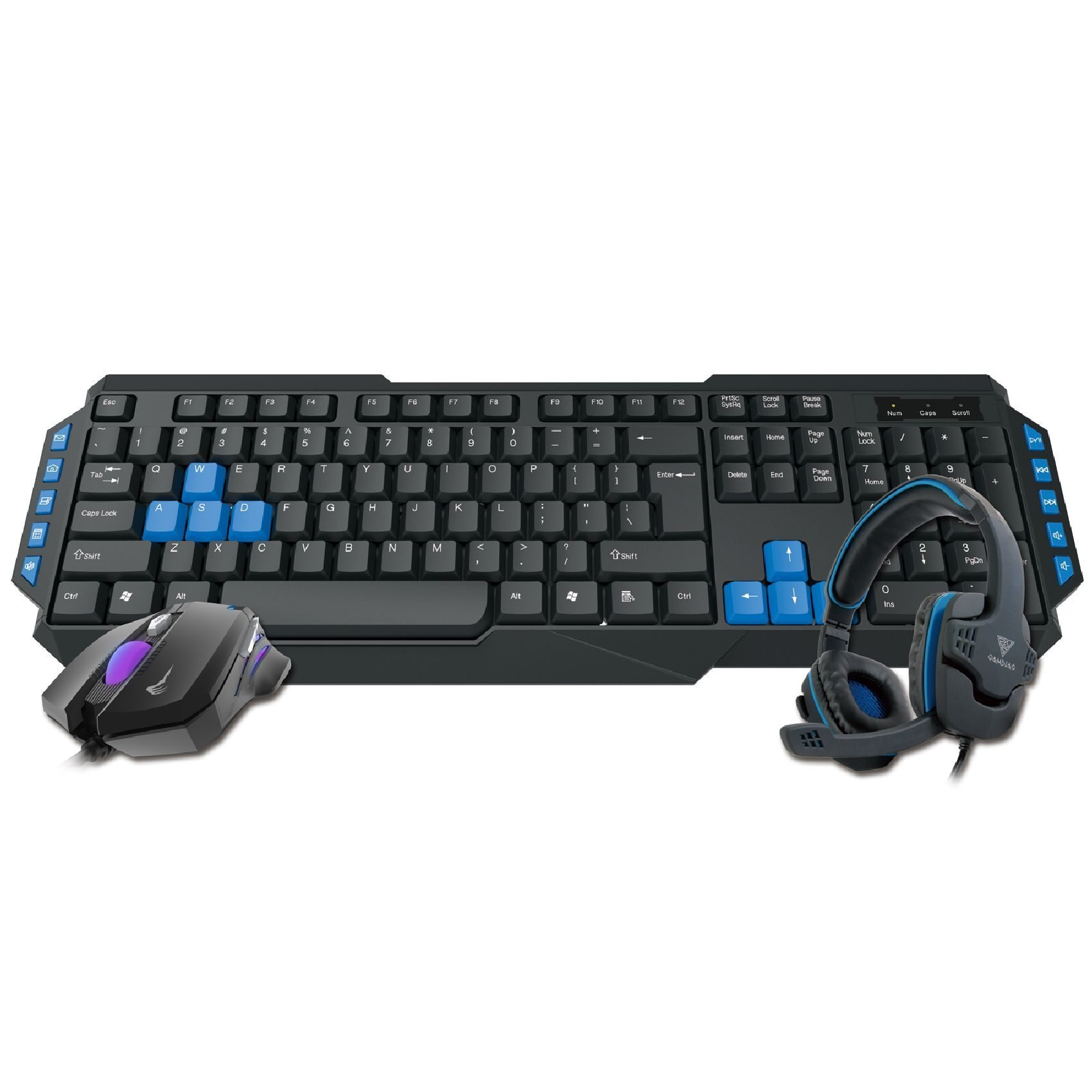 геймърски комплект Gaming COMBO - POSEIDON E1 3-in-1 Combo - Keyboard + Mouse + Headphones