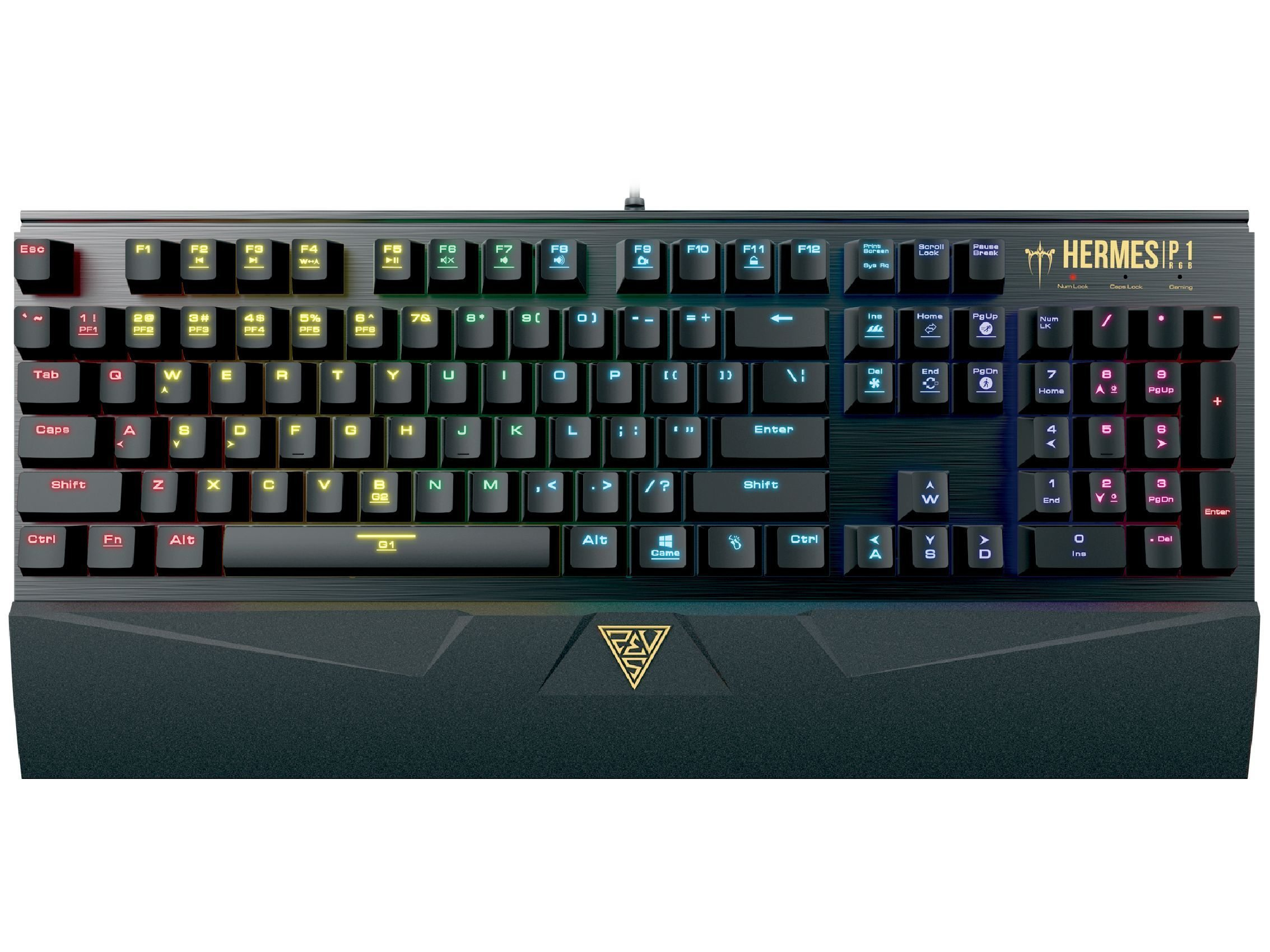 геймърска клавиатура Gaming Keyboard Mechanical 104 keys - HERMES P1 RGB