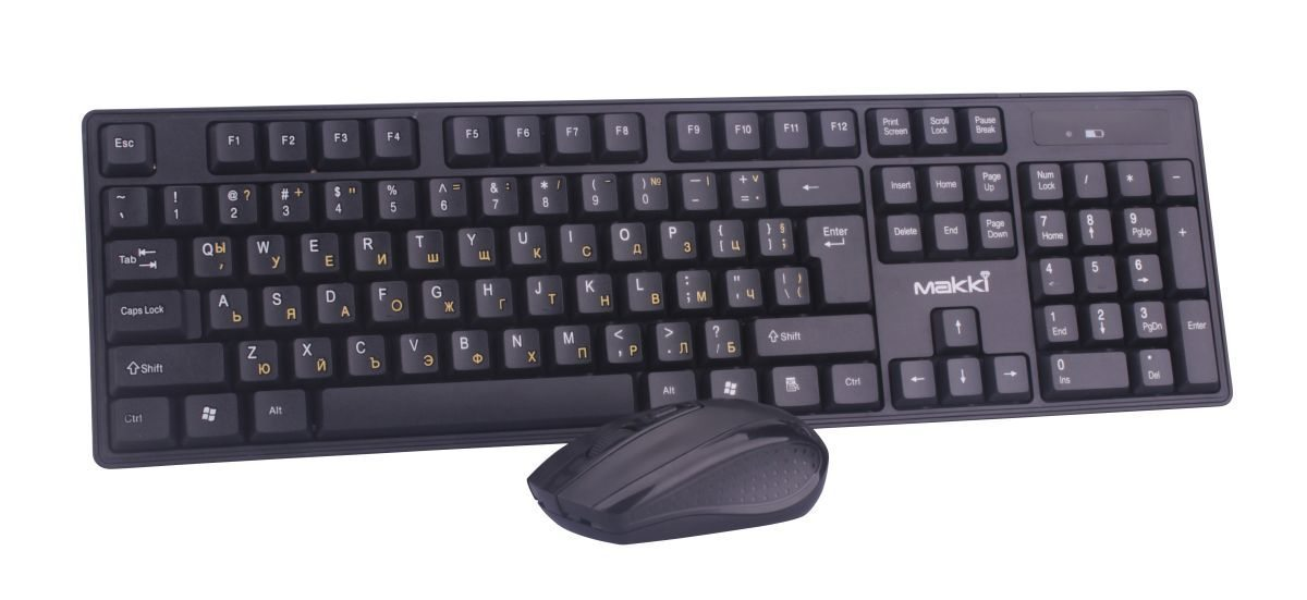 Keyboard+Mouse Wireless 2.4G BG - MAKKI-KBX-008