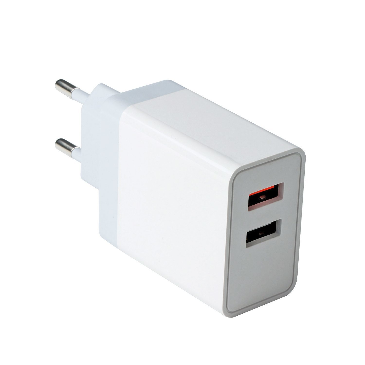 VCom бързо зарядно Charger Wall - QC3.0 2xUSB 30W White - M050
