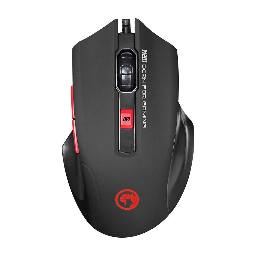геймърска мишка Gaming Mouse M201 - 2400dpi, 6 buttons, Backlight - MARVO-M201