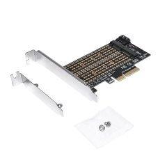 Адаптер M2 SSD NVMe+SATA (M-key+B-key) to PCI Express 3.0 4x adapter - MAKKI-M2-PCIE-2X