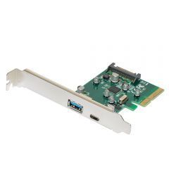 PCI-E card 2 x USB3.1 A+C ports - MAKKI-PCIE-2XUSB31-AC-V1