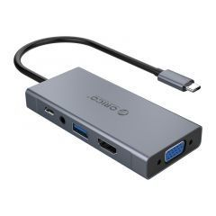 докинг станция Docking Station Type-C Power Distribution 60W - HDMI, Type-C x 1, USB3.0 x 1, VGA, Audio -  MC-U501P