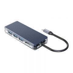 докинг станция Type-C Docking Station Power Distribution 3.0 100W - HDMI, Type-C x 1, USB3.0 x 3, LAN, SD - WB-8P-GY