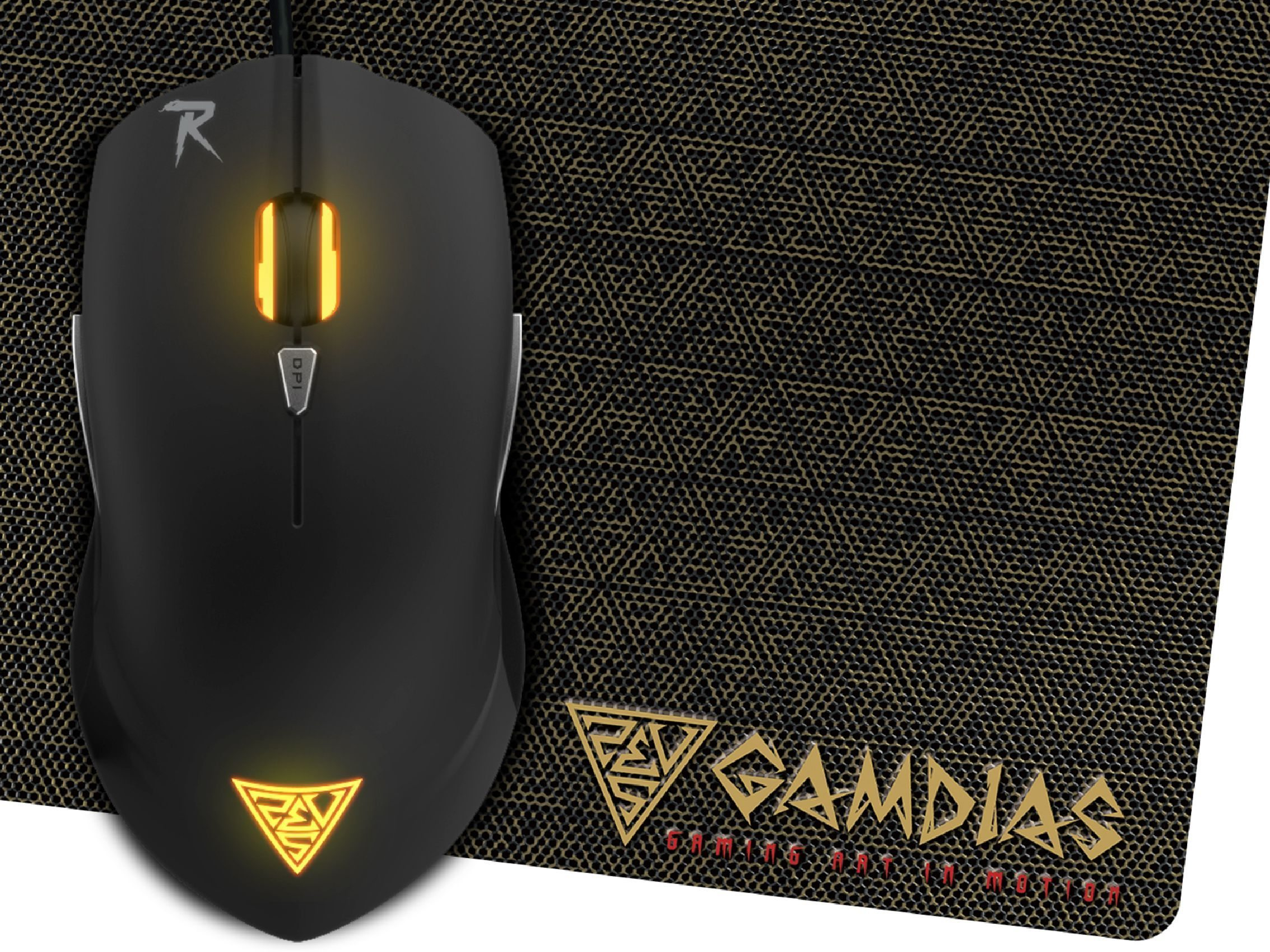 Gaming Mouse - OUREA E1 + PAD NYX E1 - 4000dpi, backlight, weight tunning