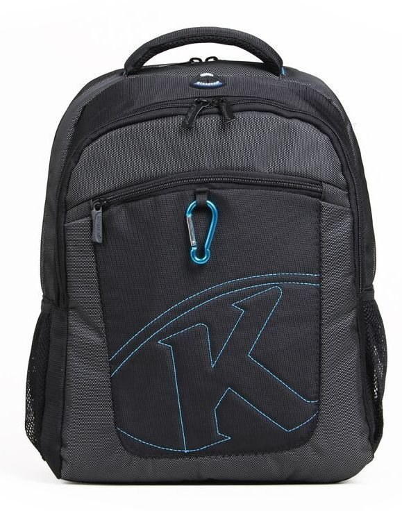"Kingsons Laptop Backpack 15.6"" KS6062W-B :: K-Series - Black"