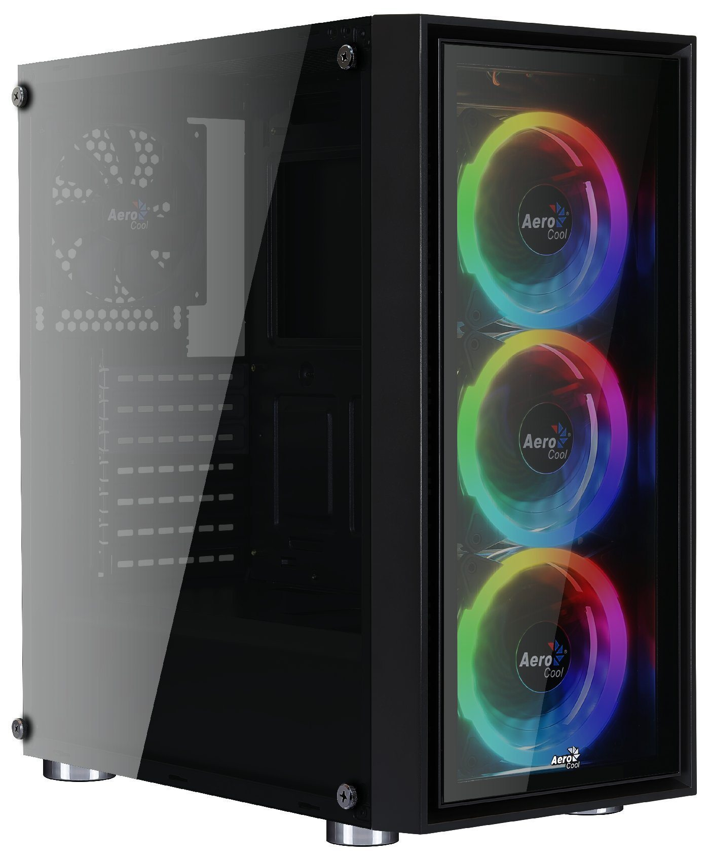 AeroCool кутия Case ATX - QuartZ Revo - Addressable RGB, 3 x 120mm fans - ACCM-PB07043.81