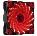 Fan 120mm - 15 RED LED lights - MAKKI-FAN120-15RD