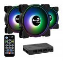 Fan Pack 3-in-1 3x120mm - Saturn 12F ARGB Pro - Addressable RGB with Hub, Remote - ACF3-ST10247.01