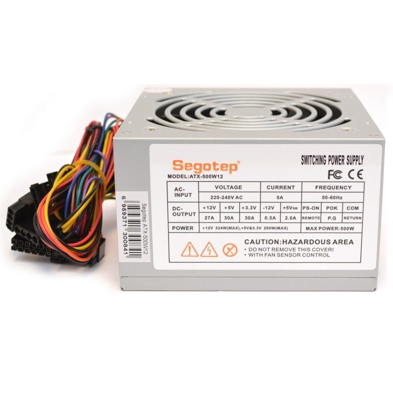 Захранване PSU ATX-500W12 Bulk - 500W/PFC/120mm fan