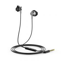 слушалки Earphones Hi-Fi RM3 - Metal Black with Mic - SOUNDPLUS-RM3-BK