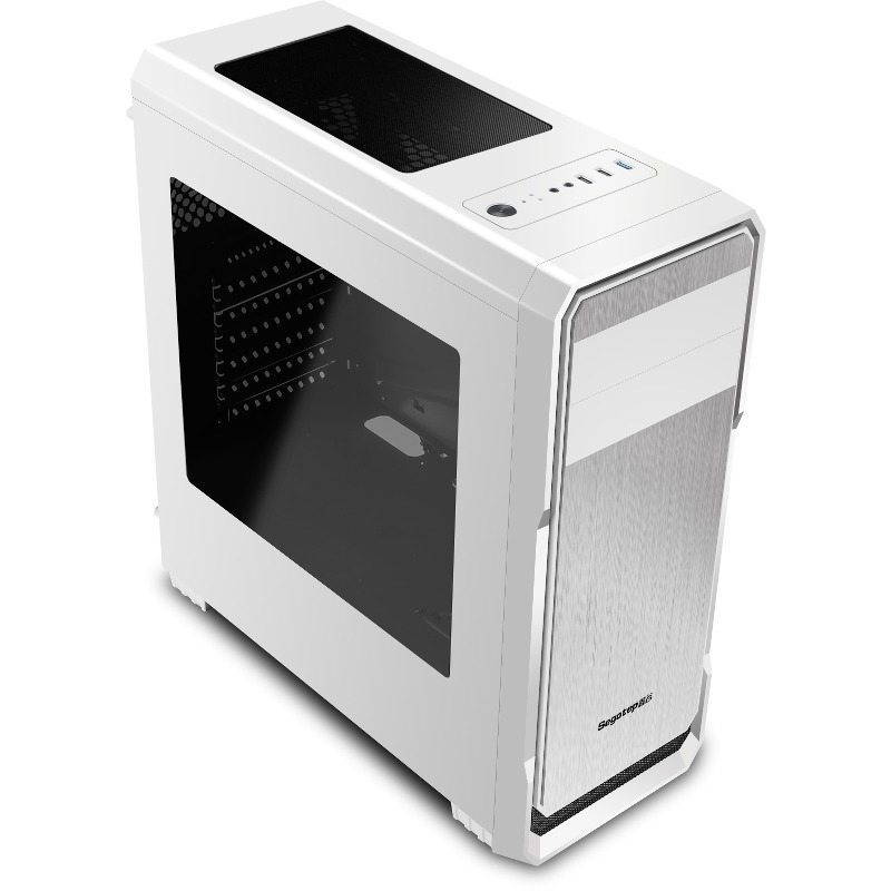 Segotep Кутия Case ATX WIND-White - USB3.0/2x120mm fans