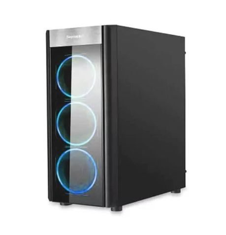 Segotep кутия Case ATX WIDER X3 Blue LED - SG-WIDER-X3-BK