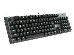 механична геймърска клавиатура Mechanical Keyboard aluminium THOR 300 GREEN 104 keys - NKG-0947
