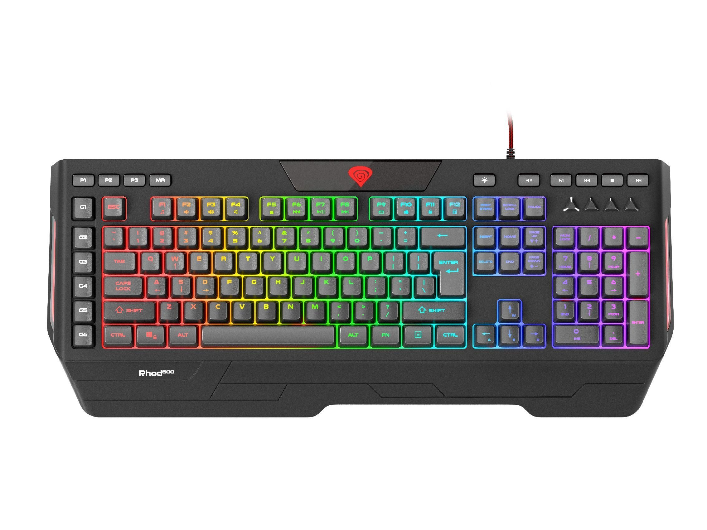 геймърска клавиатура Gaming Keyboard 120 keys RHOD 600 RGB - NKG-1072