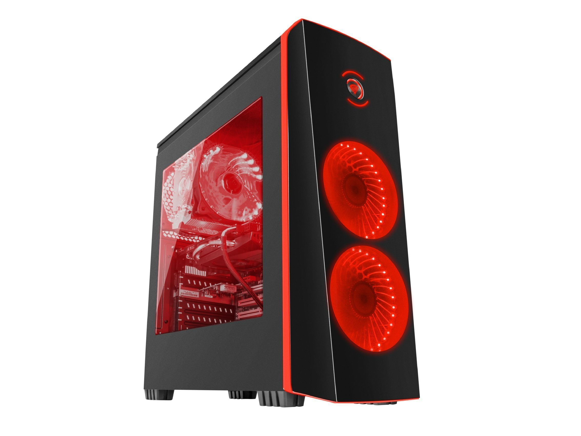 геймърска кутия Case Gaming ATX - TITAN 700 RED - NPC-1124