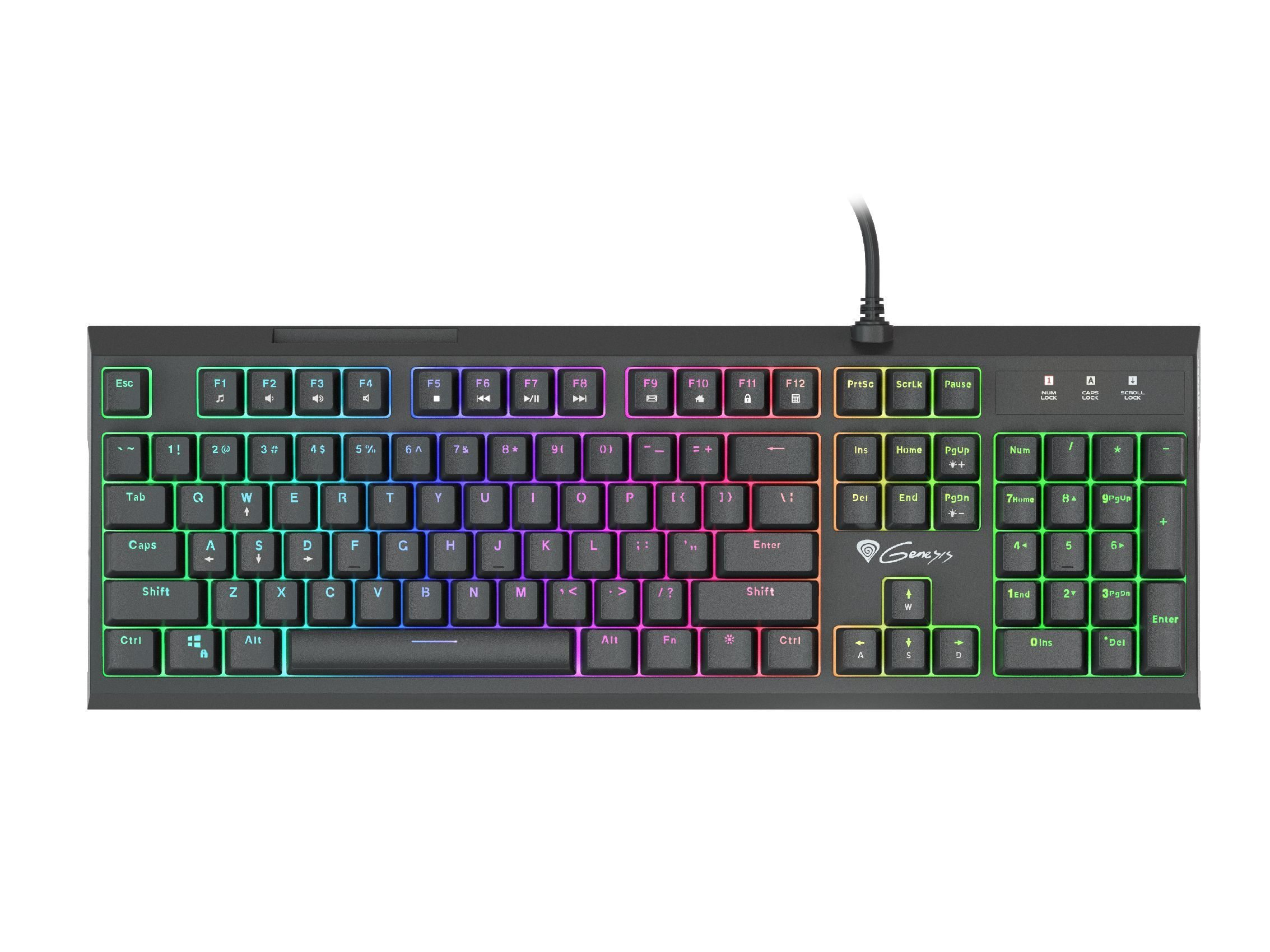 Hybrid Gaming Keyboard - THOR 200 RGB Hybrid switches - NKG-1237