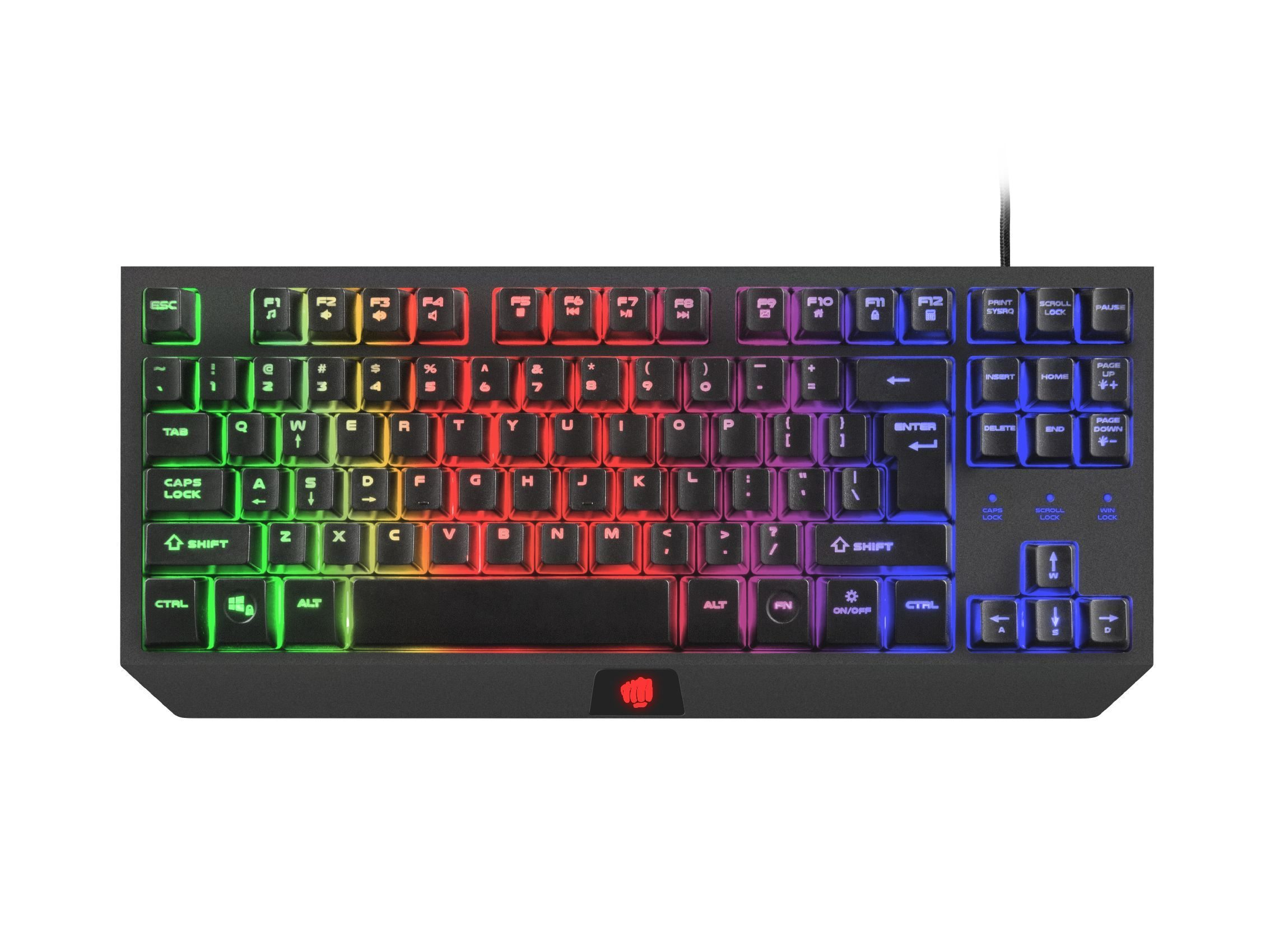 геймърска клавиатура Gaming Keyboard HURRICANE TKL NFU-1238