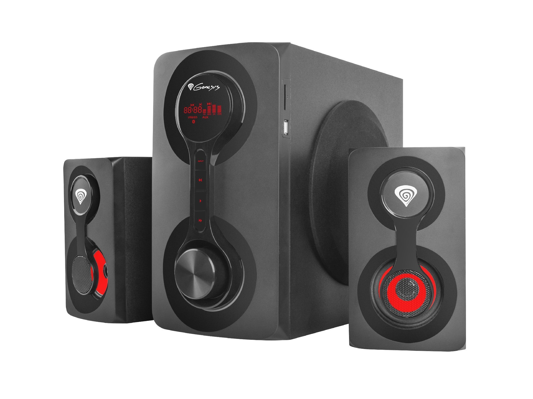 Speakers 2.1 - HELIUM 700BT - 60W RMS, Bluetooth 4.2, USB/SD card MP3 player, remote