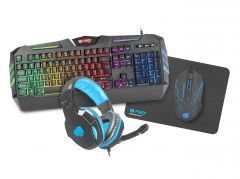 Геймърски комплект Gaming COMBO THUNDERSTREAK 2.0 4-in-1 Keyboard, Mouse, Headset, Mousepad - NFU-1370
