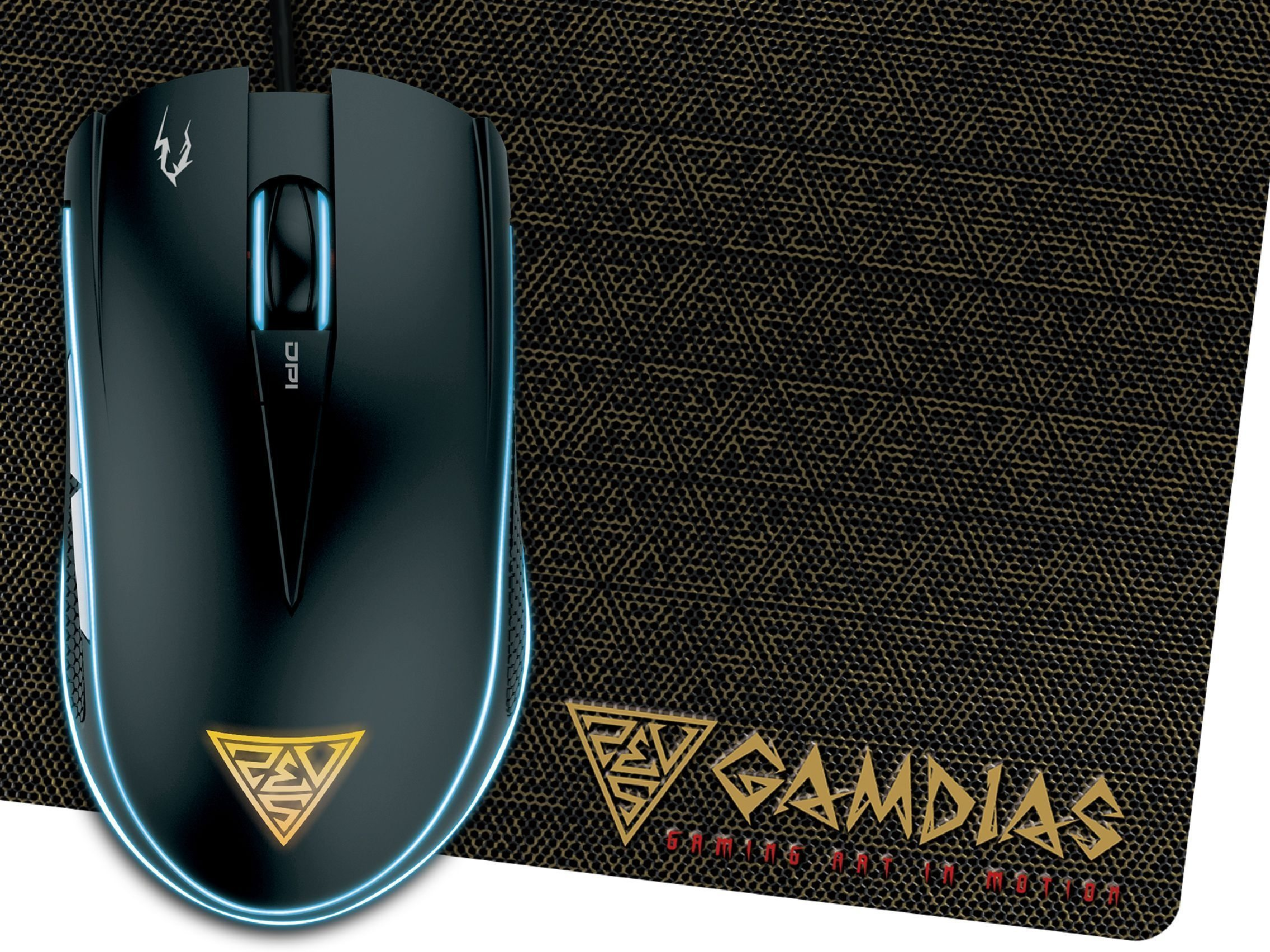 Gaming Mouse - ZEUS E1A + PAD NYX E1 - 4200dpi, backlight