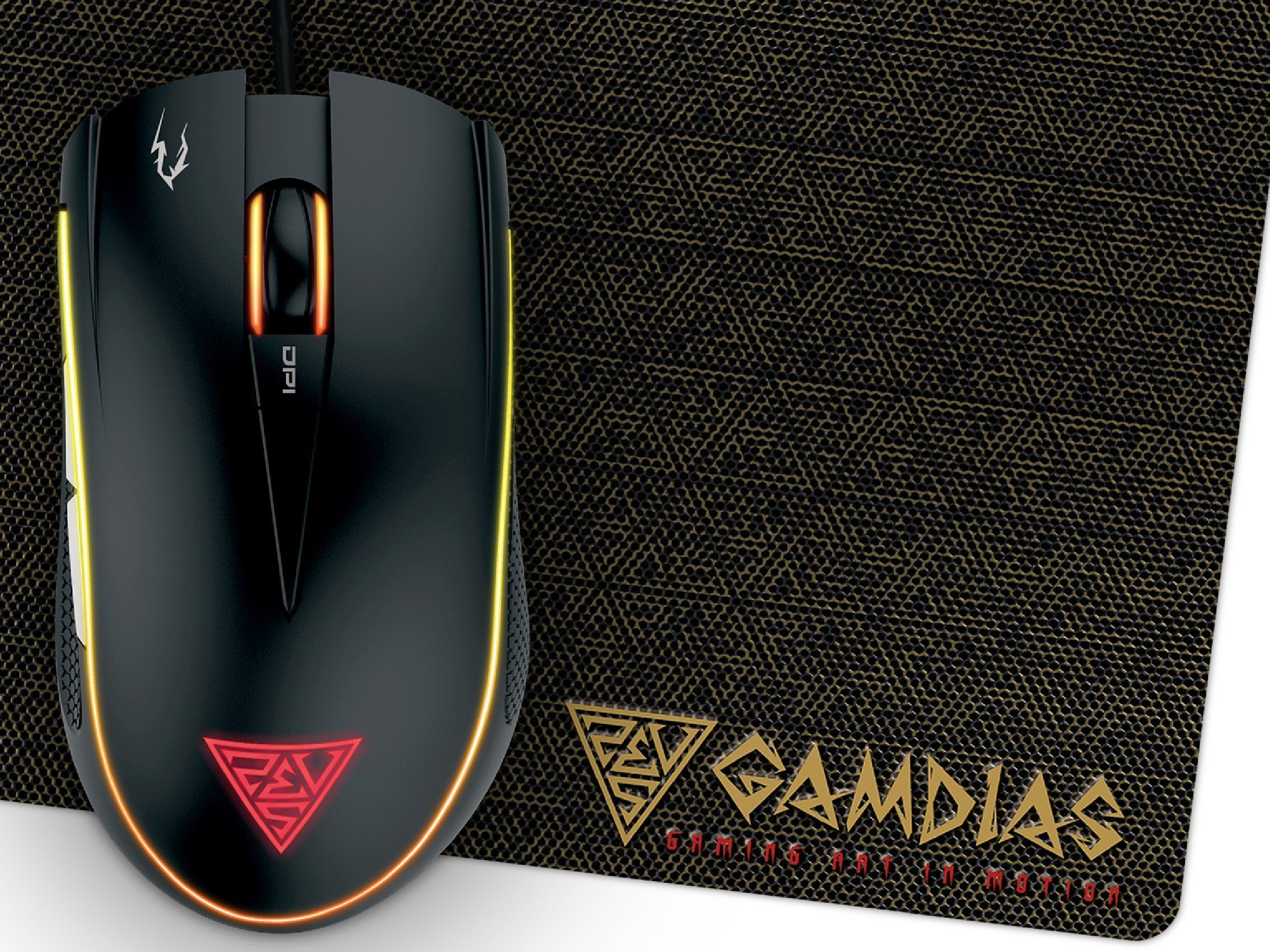 геймърска мишка с подложка Gaming Mouse - ZEUS E2 OPTICAL + PAD NYX E1 - 3200dpi, backlight