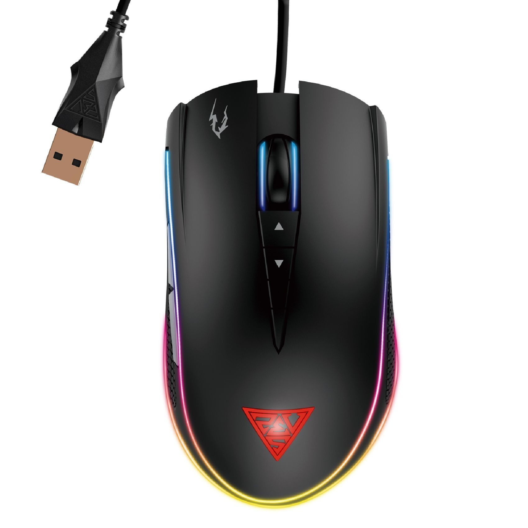 геймърска мишка Gaming Mouse - ZEUS M1 RGB - 7000dpi, RGB, Weight tunning